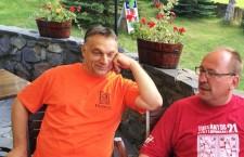 Viktor Orbán in Tusnádfürdő, Romania.