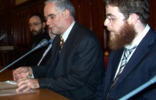 Zoltán Balog with Rabbi Köves