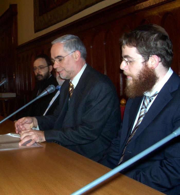 Zoltán Balog with Rabbi Köves