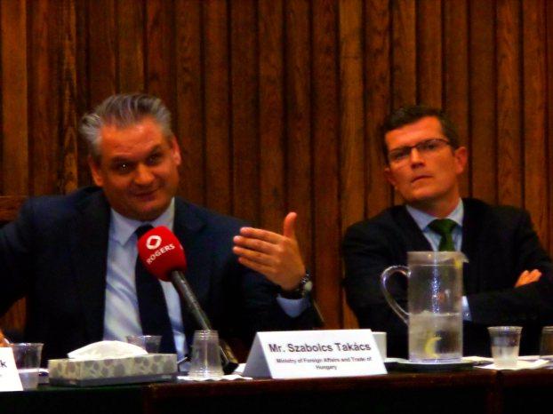 Deputy State Secretary Szabolcs Takács in Ottawa, Canada.
