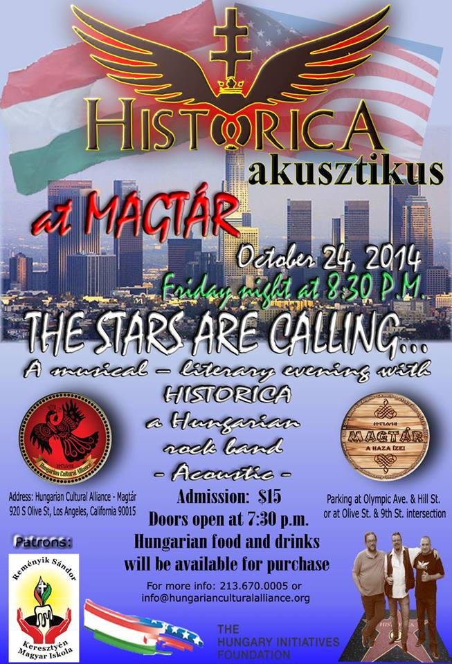 Hungarian Cultural Alliance concert sponsored by Mr. Fellegi's Hungarian Initiatives Foundation.