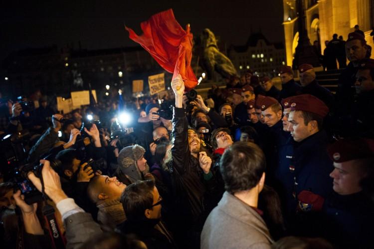 Day of Outrage. Photo: János Marjai/MTI.