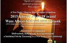 Invitation to the NYC Wass Albert reading, which is being supported by Mr. Orbán's Consul, Ferenc Kumin.
