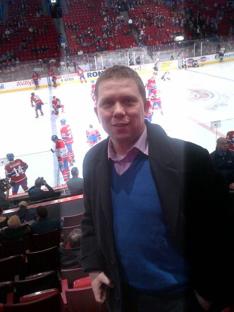 Zoltán Kész during a visit to Montreal in 2014. A sports enthusiast, Mr. Kész was watching a hockey game at the Bell Centre.