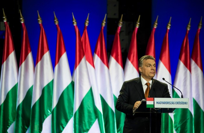 Mr. Orbán's State of the Nation address on February 27th, 2015. Photo: Facebook.