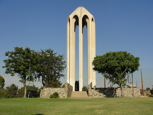 Armenian Genocide Memorial Monument in the city of Montebello, California.