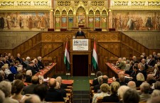 The Veritas Institute organizes a conference on the occasion of the 25th anniversary of parliamentary democracy in Hungary and the change in regime...without inviting key, liberal and left-wing participants in this history. Photo: Viktor Orbán's Facebook page.