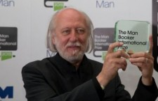 Mr. Krasznahorkai with the Booker prize.