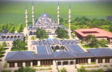 The drawings depicting a proposed mega mosque and Islamic Centre in Budapest.