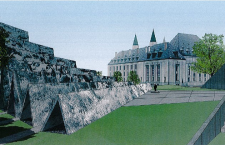 Design for the Tribute to Liberty's Victims of Communism monument, next to the Supreme Court of Canada. Source: Scan of the Tribute to Liberty brochure.