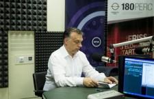 Viktor Orbán in Kossuth Rádió's studios on June 12th, 2015. Photo: Szilárd Koszticsák / MTI.