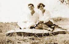 József Attila with his partner Márta Vágó (circa 1928).