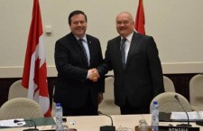 Jason Kenney (left) goes out of its way to commend the Orbán regime.