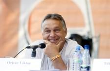 Viktor Orbán in Tusnádfürdő. Photo: Szilárd Koszticsák/MTI.