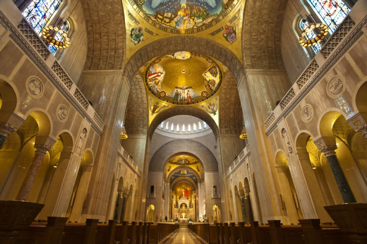 Interior of the Basilica.
