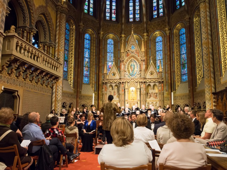 Oakland Symphony Chorus performs at Matthias Church.