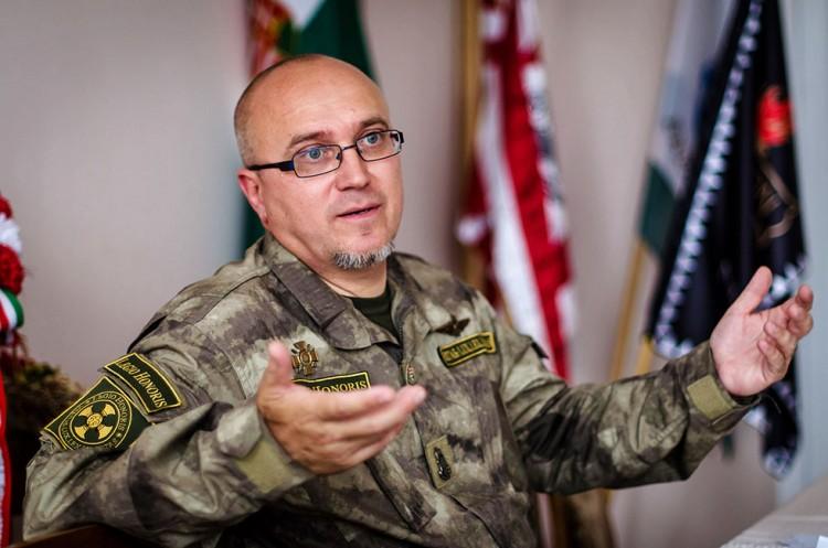 Mayor Orosz, in his signature military fatigues. Photo: Hir24.