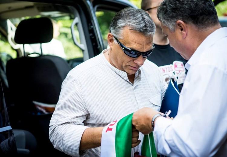 Viktor Orbán in Tusnádfürdő (Băile Tuşnad), Romania.