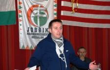 FankaDeli at a Jobbik meeting.
