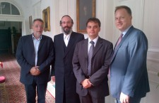 Ferenc Kumin with Rabbi Hoffman in Budapest.