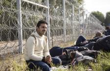 A refugee at the Röszke border crossing. Photo: Balázs Mohai / MTI.