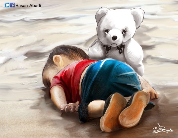 The tragedy of Syrian refugees, as seen by Hasan Abadi.