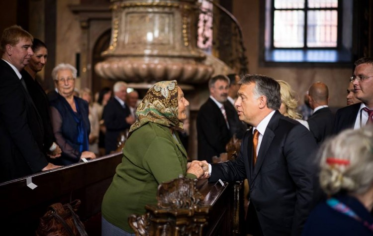 Viktor Orbán at the St. Stephen's Basilica in Budapest. Photo: Facebook.