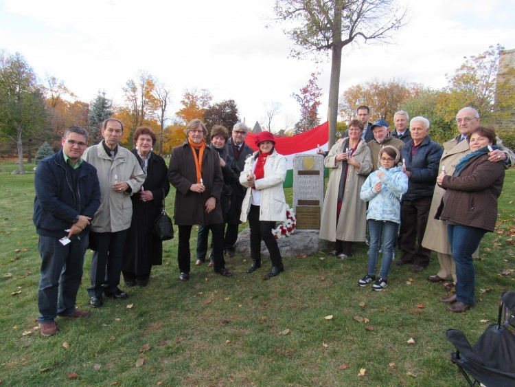 The Ottawa Hungarian Forum's 1956 commemoration. Photo: C. Adam.