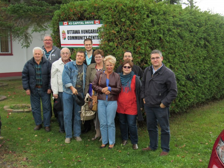 Some of the Hungarians in Ottawa who showed up at the Ottawa Hungarian Community Centre to oppose membership in the National Alliance of Hungarians in Canada.