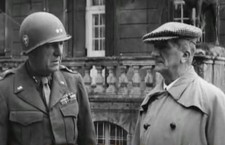 Horthy with American soldier – he was arrested but avoided prosecution after Stalin intervened.
