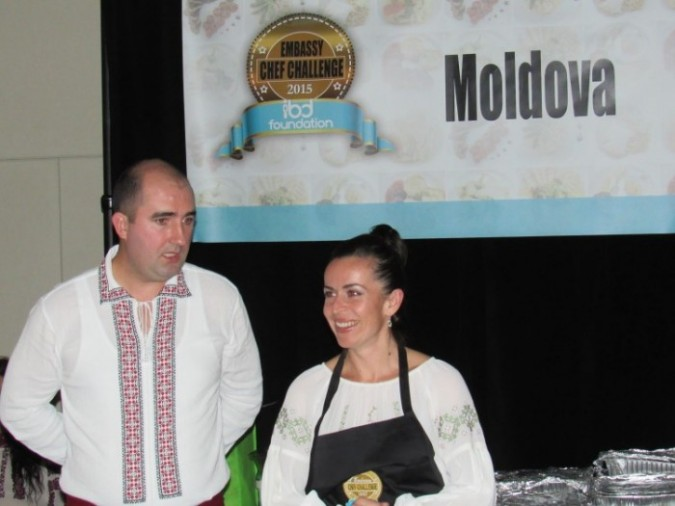 Embassy of Moldova in Ottawa at the Embassy Chef Challenge. Chef Nata Albot is on the right. Photo: C. Adam.