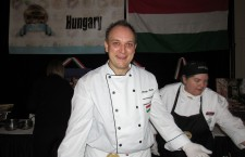 Zsolt Varga, the chef at the Embassy of Hungary in Ottawa, serving up venison stuffed cabbage at the Embassy Chef Challenge. Photo: C. Adam