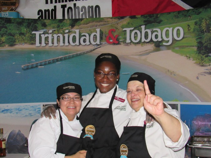 Embassy of Trinidad & Tobago, with Chef Resa Solomon-St. Lewis in the middle. Photo: C. Adam.