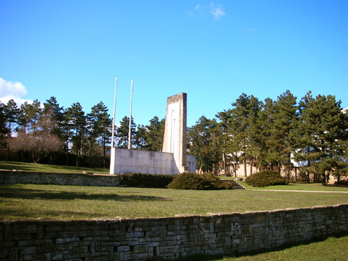 The remains of the WWII American military cemetery in Budapest. (Not in use).