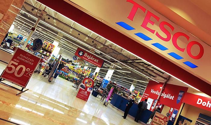 The Tesco store at Budapest's Arena Plaza shopping mall.