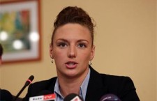 Katinka Kosszú at her press conference.