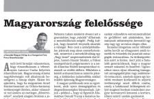 The screen capture of the print version of my piece in Wednesday's Népszava.