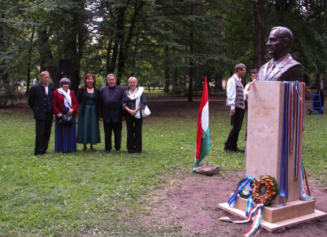 The latest Wass statue was inaugurated in August 2015 at Margitsziget, Budapest