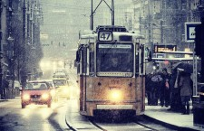 Wintry Budapest - Streetcar No. 47. Photo: Karl Wood.