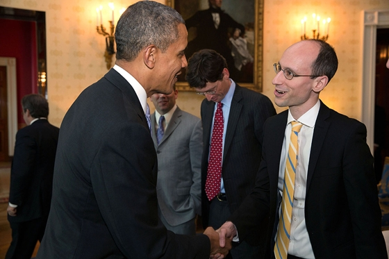 President Obama with Péter Árvai.