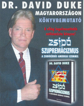 Hungarian David Duke poster advertising his book