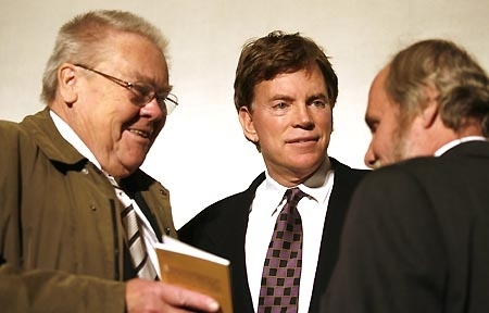 István Csurka (left) and David Duke (middle) in Budapest