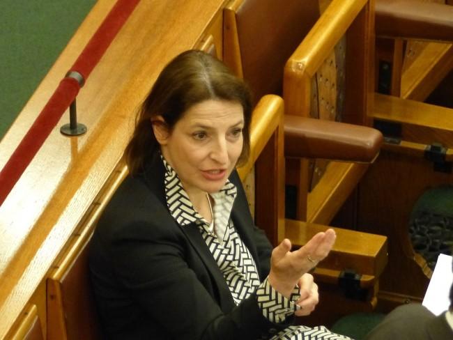 Zsuzsanna Szelényi in Parliament.