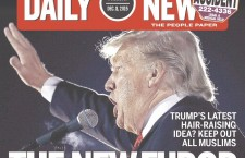 "Philadelphia Daily cover with Trump - ""The New Furor"""