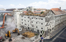 The demolition of the Radetzky Barracks in Budapest, on May 28, 2016.