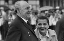Mrs. Kádár with her husband János Kádár in the seventies.