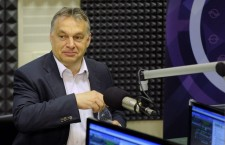 Viktor Orbán speaking on Kossuth Rádió on Friday morning. Photo: MTI
