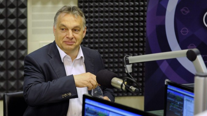 Viktor Orbán speaking on Kossuth Rádió on Friday morning. Photo: MTI