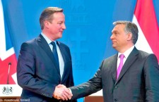 Outgoing Prime Minister David Cameron with Viktor Orbán earlier this year.