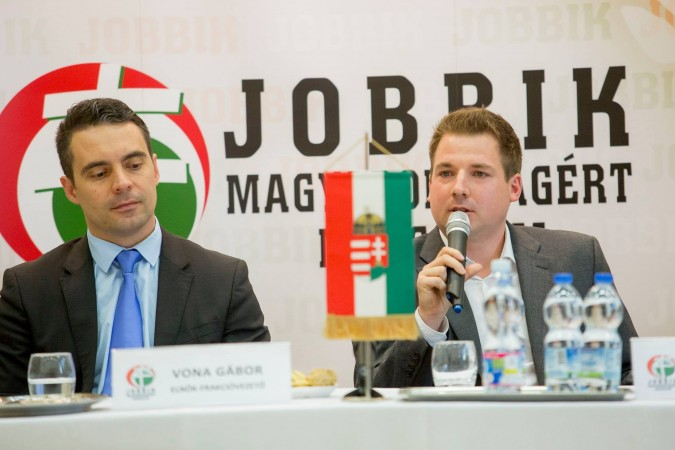 Gábor Vona (left) has moderated his message, stamped out the more extreme opposition in Jobbik, and may be getting a major boost from one of Hungary's wealthiest, former Fidesz supporters and businessmen. Photo: Facebook.